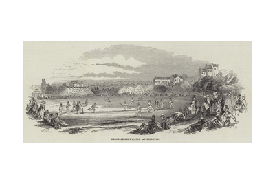 Grand Cricket Match at Brighton Giclee Print
