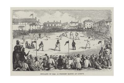 England in 1842, a Cricket Match at Lord'S Giclee Print