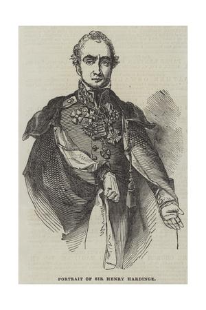 Portrait of Sir Henry Hardinge Giclee Print