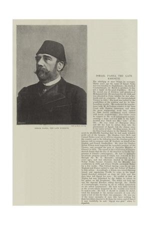 Ismail Pasha, the Late Khedive Giclee Print