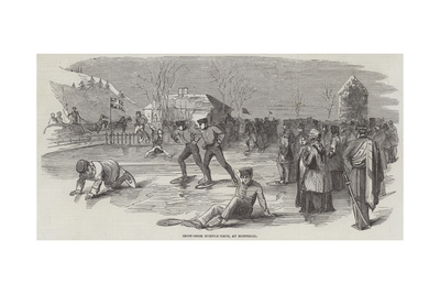 Snow-Shoe Hurdle-Race, at Montreal Giclee Print
