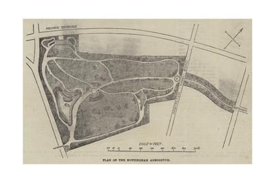 Plan of the Nottingham Arboretum Giclee Print