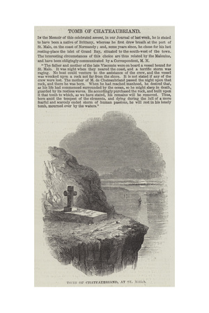 Tomb of Chateaubriand, at St Malo Giclee Print