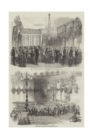 Banquet at Mansion House in Dublin Giclee Print