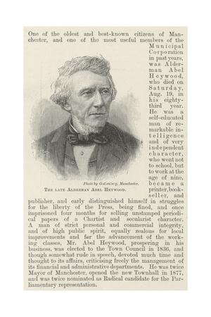 The Late Alderman Abel Heywood Giclee Print