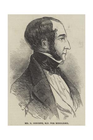 Mr B Osborne, Mp for Middlesex Giclee Print