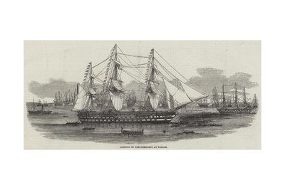 Landing of the President at Toulon Giclee Print