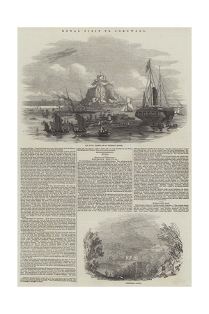Royal Visit to Cornwall Giclee Print