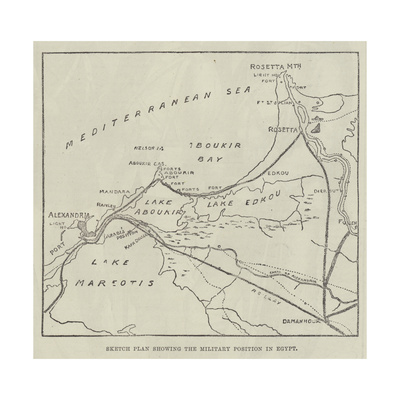 Sketch Plan Showing the Military Position in Egypt Giclee Print