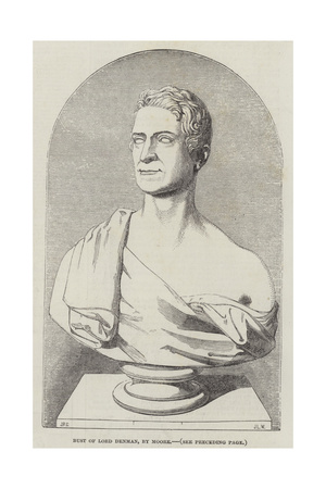 Bust of Lord Denman Giclee Print