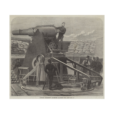 Captain Moncrieff's Protected Barbette Gun Giclee Print