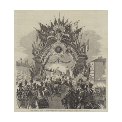 The Queen's Visit to Birmingham, the Gunmakers' Arch, at Gosta Green Giclee Print