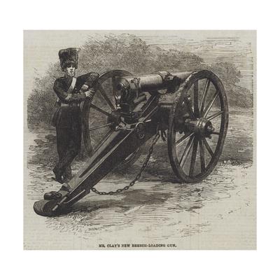 Mr Clay's New Breech-Loading Gun Giclee Print