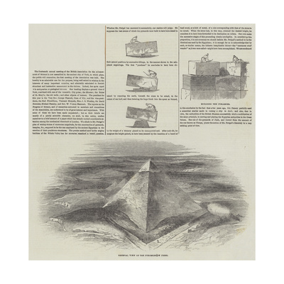 Construction of the Pyramids Giclee Print