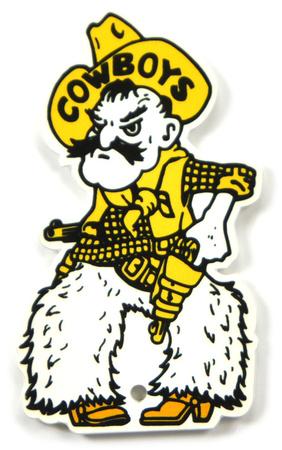 Wyoming Cowboys Pistol Pete Steel Magnet Magnet