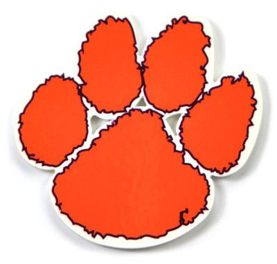 Clemson Tigers Paw Steel Magnet Magnet