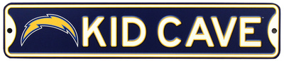 San Diego Chargers Steel Kid Cave Sign Wall Sign