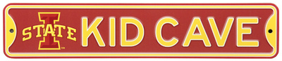 Iowa State Cyclones Steel Kid Cave Sign Wall Sign