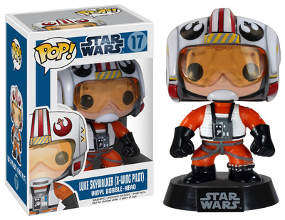 Cute adorable Luke Skywalker as an X-wing pilot fighter, Star Wars POP figure figurine vinyl bobblehead gift merchandise