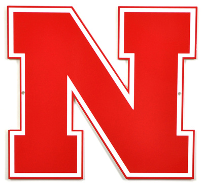 Nebraska Huskers Block N Lasercut Steel Logo Sign Wall Sign