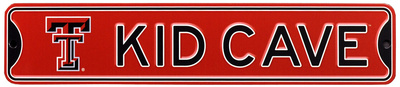 Texas Tech Red Raiders Steel Kid Cave Sign Wall Sign