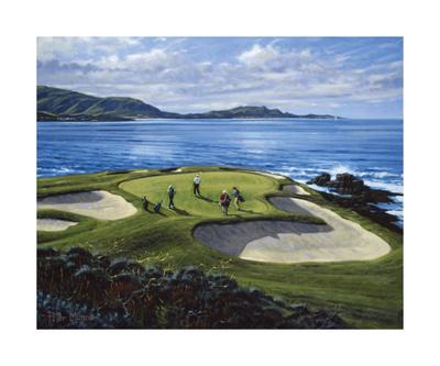 7th Hole Pebble Beach, California Premium Giclee Print by Peter Munro