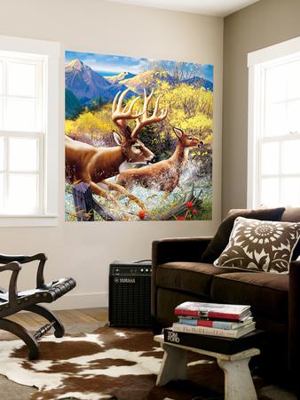 Big Buck HD Cabinet Art Wall Mural by John Youssi