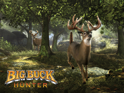 Big Buck Whitetail Deer with Logo Poster by Mike Colesworthy