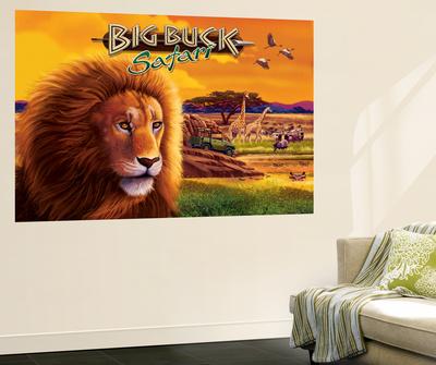Big Buck Safari Cabinet Art with Logo Wall Mural by John Youssi