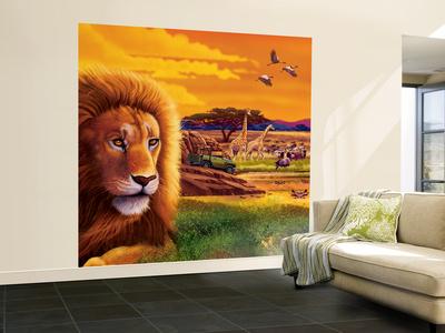Big Buck Safari Cabinet Art Wall Mural – Large by John Youssi