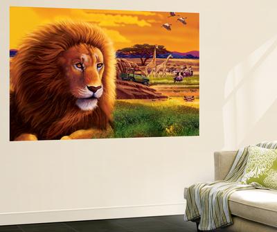 Big Buck Safari Cabinet Art Wall Mural by John Youssi
