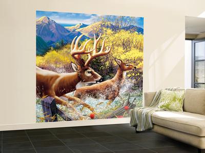 Big Buck HD Cabinet Art Wall Mural – Large by John Youssi