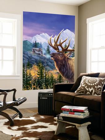 Big Buck Pro Open Season Cabinet Art Wall Mural by John Youssi