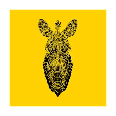 Yellow Zebra Mesh Prints by Lisa Kroll