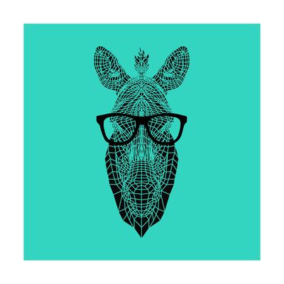 Zebra in Glasses Posters by Lisa Kroll