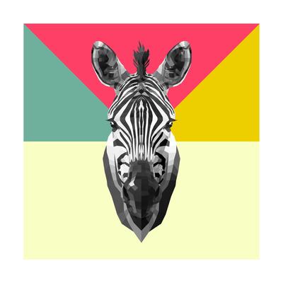 Party Zebra Head Prints by  NaxArt
