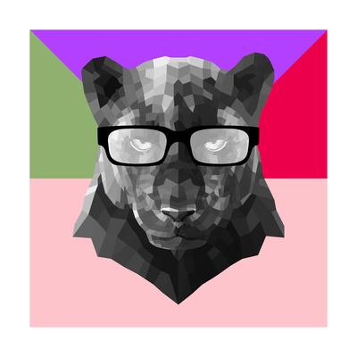 Party Panther in Glasses Posters by Lisa Kroll