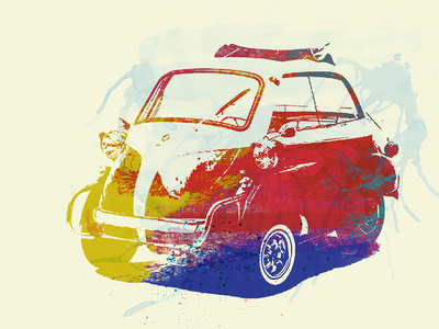 Bmw Isetta Plastic Sign by  NaxArt