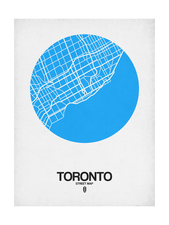 Toronto Street Map Blue Art by  NaxArt