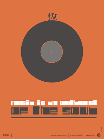 Music is the Soul Poster Plastic Sign by  NaxArt