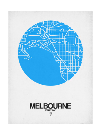 Melbourne Street Map Blue Prints by  NaxArt