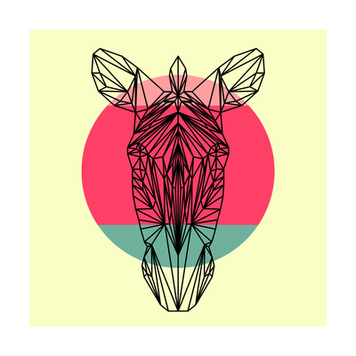 Zebra and Sunset Posters by Lisa Kroll