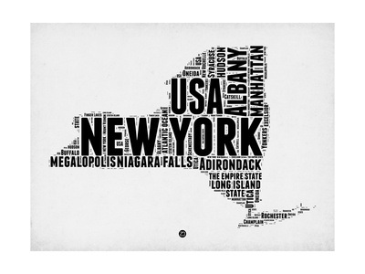 New York Word Cloud 2 Prints by  NaxArt!