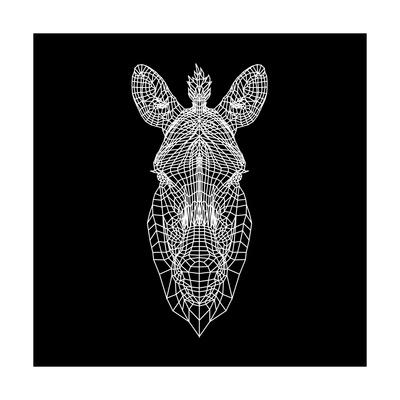 Black Zebra Head Mesh Prints by  NaxArt