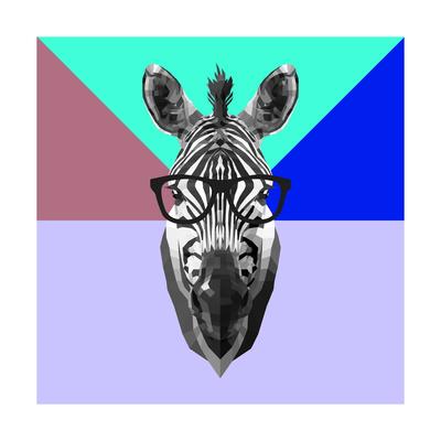Party Zebra in Glasses Art by Lisa Kroll