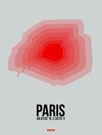 Paris Radiant Map 1 Plastic Sign by  NaxArt