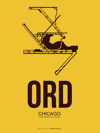 Ord Chicago Poster 1 Plastic Sign by  NaxArt