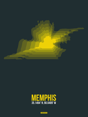 Memphis Radiant Map 1 Plastic Sign by  NaxArt