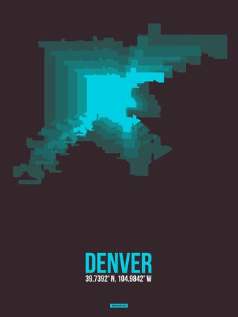 Denver Radiant Map 4 Plastic Sign by  NaxArt