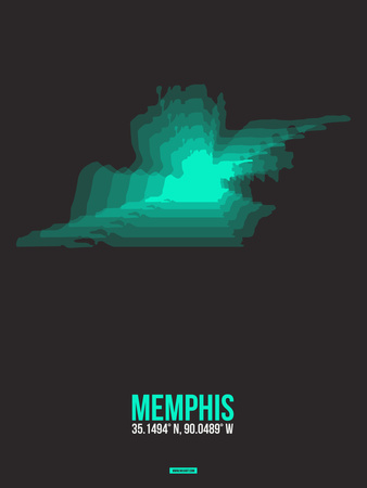 Memphis Radiant Map 2 Plastic Sign by  NaxArt